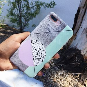 iPhone 7/8 Gray Geometric Silicone Case